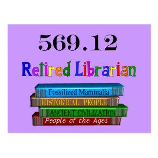 Retired Librarian 569.0 (Dewey Decimal System) Postcard