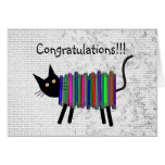 Retired Librarian Book Cat Gifts Card