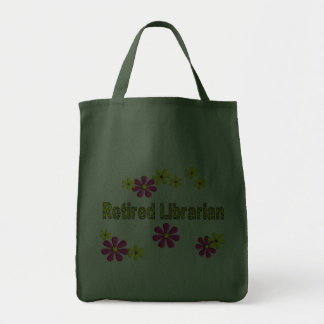 Retired Librarian Gifts Daisies Pattern Grocery Tote Bag