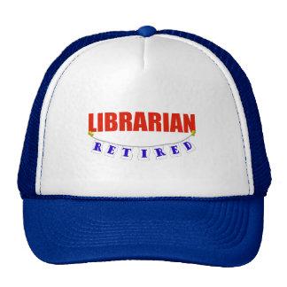 RETIRED LIBRARIAN TRUCKER HAT