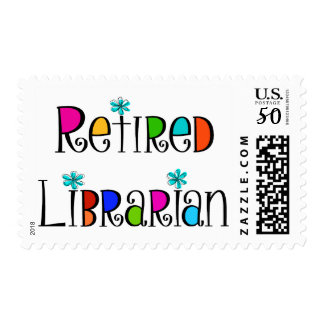Retired Librarian Postage Stamps