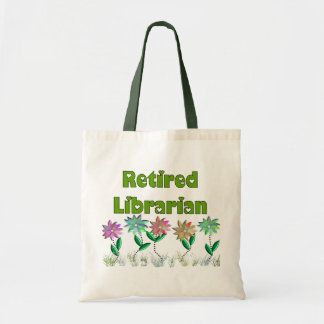 """Retired Librarian """"Spring Sensation"""" Canvas Bags"""