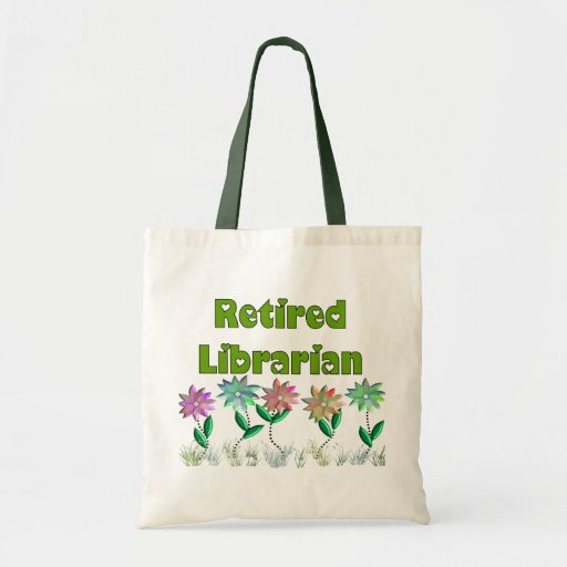 "Retired Librarian ""Spring Sensation"" Canvas Bags"