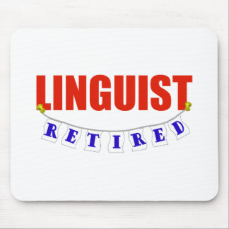 RETIRED LINGUIST MOUSE PAD