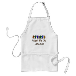 """Retired """"Living For My Disounts"""" Cards and Gifts Adult Apron"""