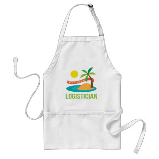 Retired Logistician Gift Adult Apron