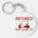 Retired & Lovin It Basic Round Button Keychain