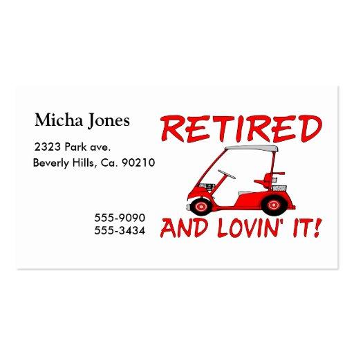 Retired & Lovin It Business Card Template