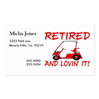 Retired & Lovin It Double-Sided Standard Business Cards (Pack Of 100)