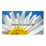 Retired & Loving Life Business Cards Daisy Floral