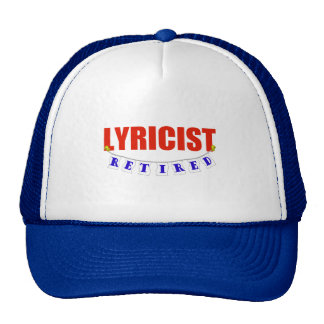 RETIRED LYRICIST TRUCKER HAT