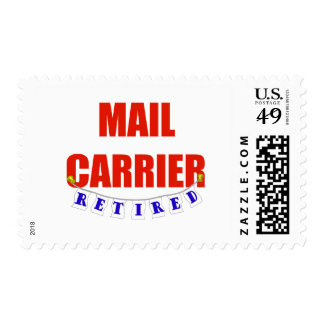 RETIRED MAIL CARRIER POSTAGE STAMP