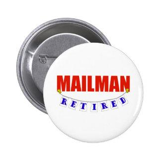 RETIRED MAILMAN 2 INCH ROUND BUTTON