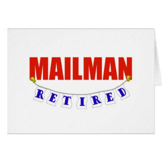 RETIRED MAILMAN GREETING CARD