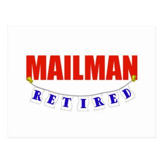 RETIRED MAILMAN POSTCARD