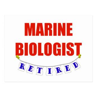 RETIRED MARINE BIOLOGIST POSTCARD