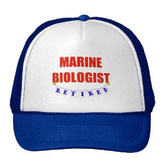 RETIRED MARINE BIOLOGIST TRUCKER HAT