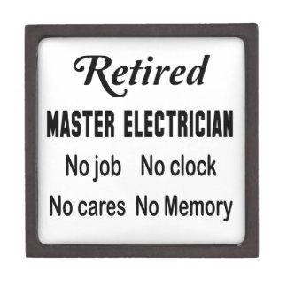 Retired Master Electrician No job No clock No care Gift Box