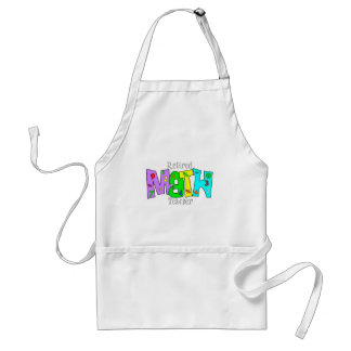 Retired Math Teacher Gifts Adult Apron