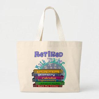 Retired Math Teacher Gifts Canvas Bags