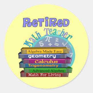 Retired Math Teacher Gifts Classic Round Sticker