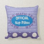 """Retired Math Teacher """"Nap Pillow"""" 20"""" X 20"""""""