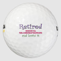 Retired Medical Transcriptionist Golf Balls