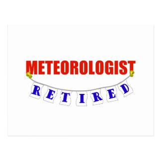 RETIRED METEOROLOGIST POSTCARD