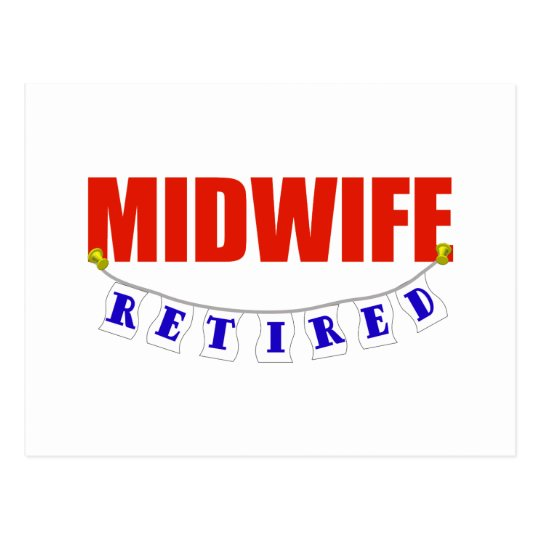RETIRED MIDWIFE POSTCARD