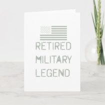 Retired Military Legend Veteran Soldier For Card
