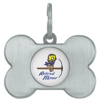 Retired Miner Pet Tag