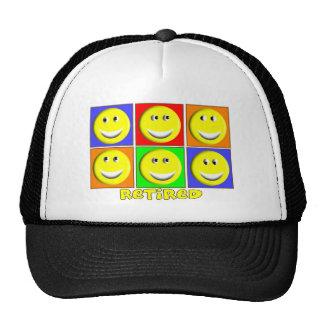"""""""RETIRED"""" Multi Smileys Design Trucker Hat"""