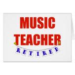 RETIRED MUSIC TEACHER CARD