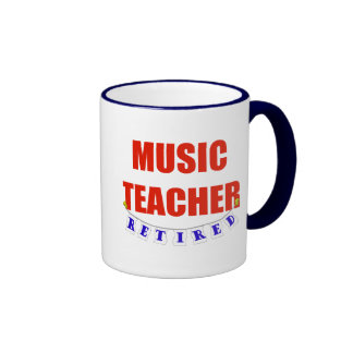 RETIRED MUSIC TEACHER RINGER COFFEE MUG