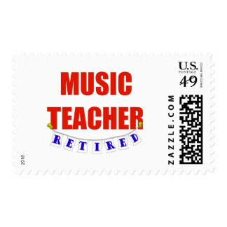 RETIRED MUSIC TEACHER POSTAGE STAMPS