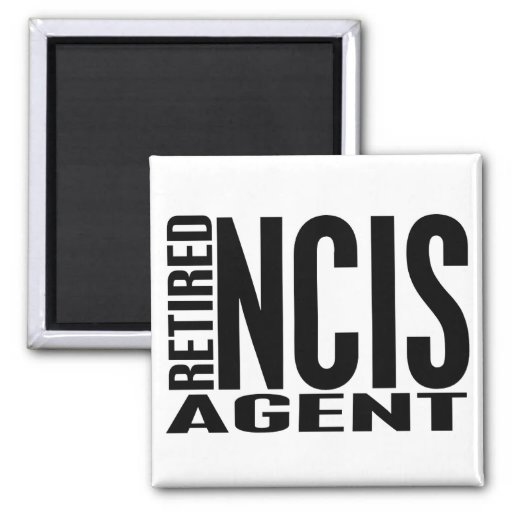 Retired NCIS Agent 2 Inch Square Magnet