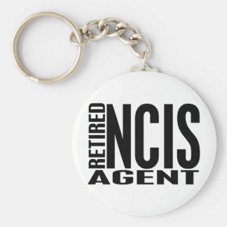 Retired NCIS Agent Basic Round Button Keychain