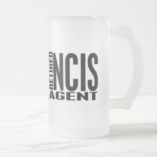 Retired NCIS Agent Frosted Glass Beer Mug