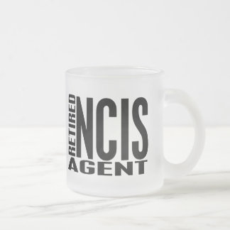 Retired NCIS Agent Frosted Glass Coffee Mug
