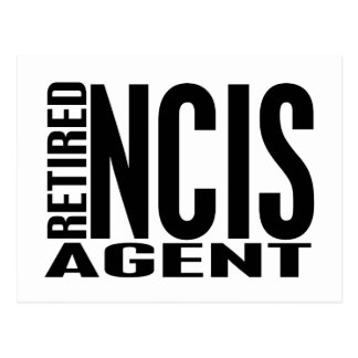Retired NCIS Agent Postcard