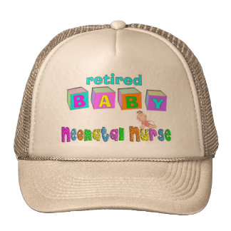 Retired Neonatal Nurse Gifts Hats