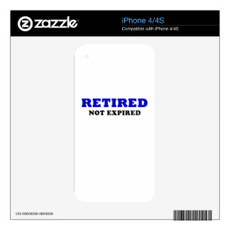 Retired Not Expired Skin For iPhone 4