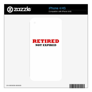 Retired Not Expired Skin For The iPhone 4S