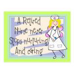 Retired Nurse Angel Art Cards & Gifts