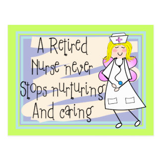 Retired Nurse Angel Art Cards & Gifts