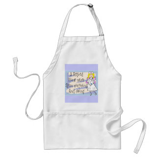 Retired Nurse Angel Art Cards & Gifts Adult Apron