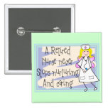 Retired Nurse Angel Art Cards & Gifts Pin