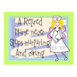 Retired Nurse Angel Art Cards & Gifts Postcard