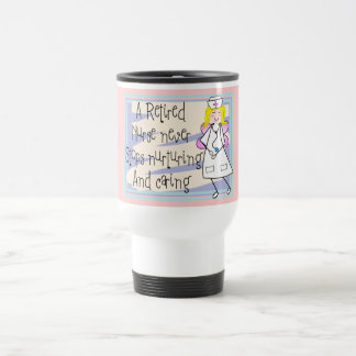 Retired Nurse Angel Art Cards & Gifts Travel Mug