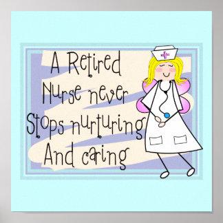 Retired Nurse Angel Canvas Art Poster